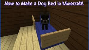 Minecraft How To Make A Bed How To Make A Dog Bed In Minecraft Youtube