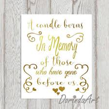 wedding memorial sign wedding memorial table gold in memory of from dorindaart on etsy