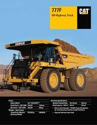 777f off highway truck caterpillar equipment pdf catalogue