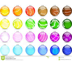 set colored balls and shimmers royalty free stock photo
