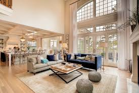 family room with 20 ft ceilings white wash oak floors atrium