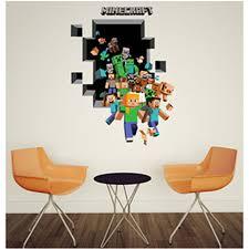 deco chambre minecraft 3d minecraft stickers muraux pour chambre d enfants papier peint