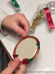washi jar lid ornament happy brown house