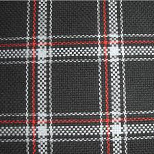 Automobile Upholstery Fabric Upholstery By Linear Yard White Black Red Plaid Volk18063