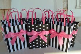 pink gift bags black and white party favor gift bags by sandyscandybags on etsy
