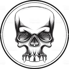 halloween graphic art human skull halloween horror death symbol tattoo stock vector art