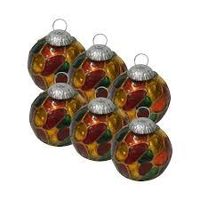 Glass Christmas Ornament Sets - giftbay 171 s 6 glass christmas tree ornament set of 6 pcs an antiqu