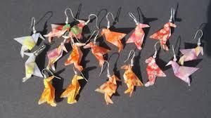 origami earrings our origami earrings
