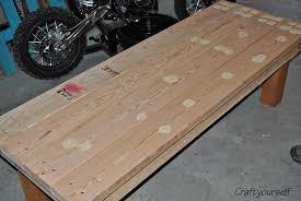 outdoor handmade wood bench craft