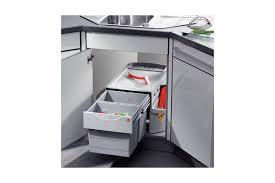 poubelle pour meuble de cuisine poubelle pivotante rondo 2 bacs meuble d angle accessoires de cuisines