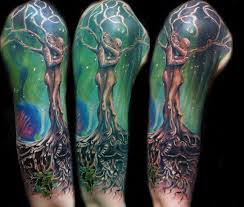half sleeve tree tattoos images design idea for and