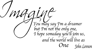 Beatles Quotes Love by Amazon Com Quote It Imagine Removable Wall Quote John Lennon