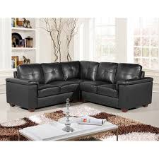 Leather Corner Sofa Beds by Windsor 5 Seater Black Leather Pocket Sprung Corner Sofa Group