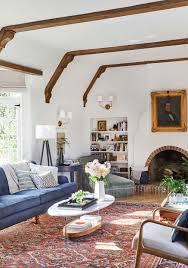 our modern english tudor living room emily henderson
