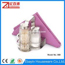 Novelty Toothpick Dispenser Salt And Pepper Shaker With Toothpick Holder Salt And Pepper