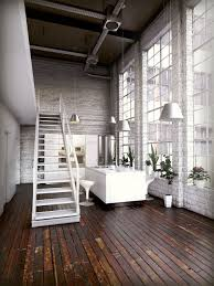 white home interior industrial inspiration bedroom living