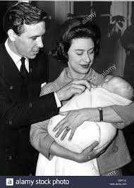 princess margaret with husband and baby son november 1961 stock