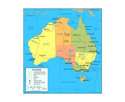 map of australia political maps of australia detailed map of australia in tourist