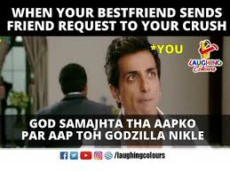 Friend Request Meme - when your bestfriend sends friend request to your crush you laughing
