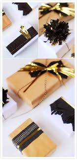 gold gift wrap diy gold accented gift wrap party entertaining ideas