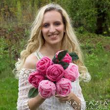 Wedding Flowers Roses Crochet Flower Rose Bouquet Of Roses Flowers