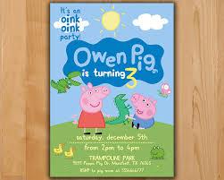 trampoline invitations peppa pig invitation peppa pig birthday invitation peppa