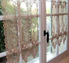 Lace Cafe Curtains Lace Kitchen Curtains Bloomingcactus Me
