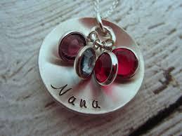 grandmother jewelry grandmother necklace nana necklace personalized mamaw necklace