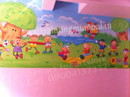 wall theme play school wall painting playschool or preschool classroom wall