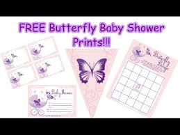 butterfly baby shower purple butterfly baby shower print set