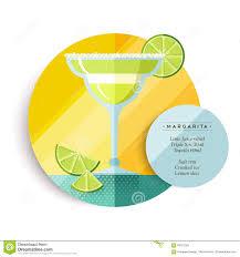 margarita drink recipe menu for cocktail party stock vector