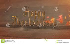 happy thanksgiving rustic sideways blowing leaves reveal stock