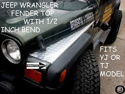 amazon com jeep wrangler tj diamond plate full top fender covers