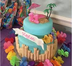 themed cake decorations cake decorating luau themed fondant cake tropical theme w