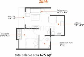 425 Sq Ft 1 Bhk Floor Plan Image Primary Pratham Available Rs