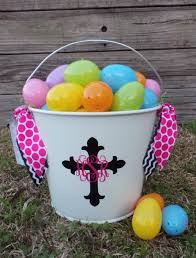 easter pail personalized easter easter pail monogram easter basket
