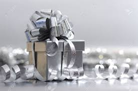 silver christmas silver christmas gift macro up stock photo picture and