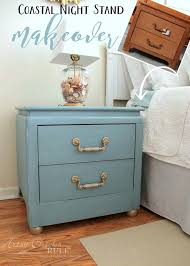 coastal turquoise night stands makeover w chalk paint artsy