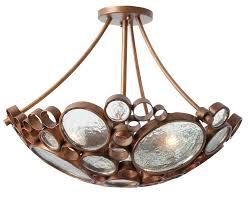 Ceiling Semi Flush Mount Light Fixtures by Varaluz Recycled Fascination 3 Light Semi Flush Mount Ceiling
