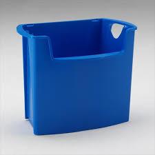 poubelle bureau corbeille poubelle bureau tri selectif 32l avec ouverture bleu
