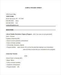 extracurricular resume template resume format 17 free word pdf documents download free
