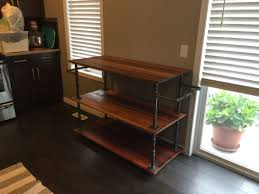 iron kitchen island just completed my project industrial black iron pipe