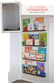 Narrow Bookshelves - easy diy narrow bookshelves for behind the door our home sweet home
