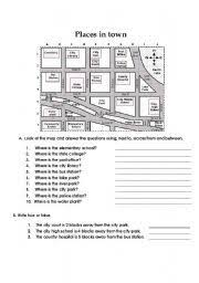 esl chart and flash cards about prepositions of place in english