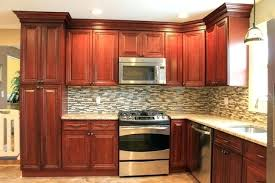 Modern Cherry Kitchen Cabinets Kitchen Backsplash Cherry Cabinets Black Counter U2013 Blatt Me