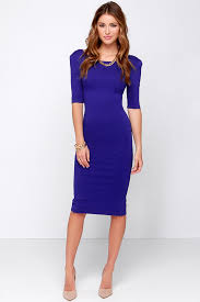 cute royal blue dress midi dress bodycon dress cocktail