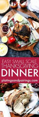 easy small scale thanksgiving dinner platings pairings