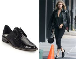 freda salvador gigi hadid s freda salvador wear laceless croc embossed leather