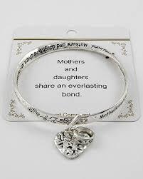 bangles charm bracelet images Mother daughter charm bracelet inspirational message twisted jpg