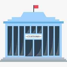 bureau de douane le bureau de douane de bâtiments bureau de douane drapeau